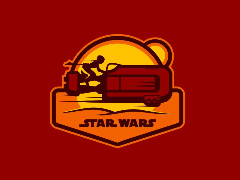18 Days of Star Wars illustration badge the force awakens episode 7 star wars