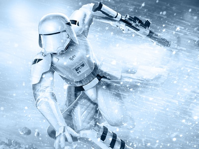 18 Days of Star Wars: Snowtrooper the force awakens episode 7 stormtrooper snow snowtrooper star wars