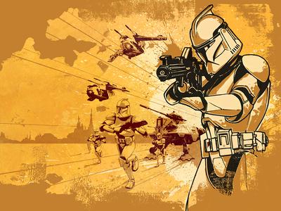 18 Days of Star Wars: Clone Wars Mixed Media licensing art the clone wars illustration clone trooper star wars