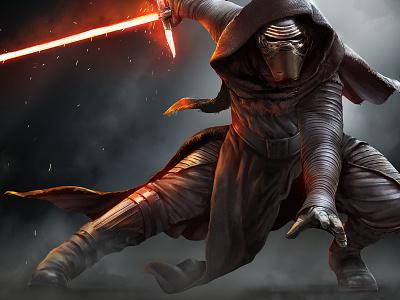 18 Days of Star Wars: Kylo Ren illustration first order kylo ren the force awakens star wars
