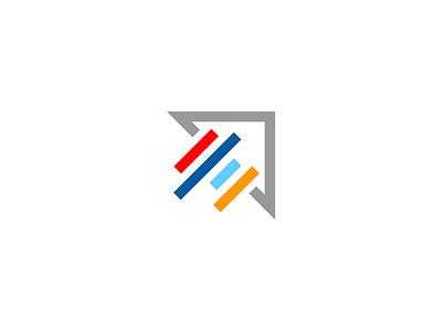 Data + Color mark arrow profitero analytics data icon branding
