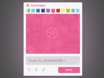 Thank You, Vanwebbs ! new dribbble invite thank vanwebbs