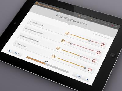 Satisfaction Questionnaire App survey app questionnaire app ux ui