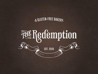 The Redemption bakery gluten-free kitchen prohibition logo branding texture phaeton ribbon vintage