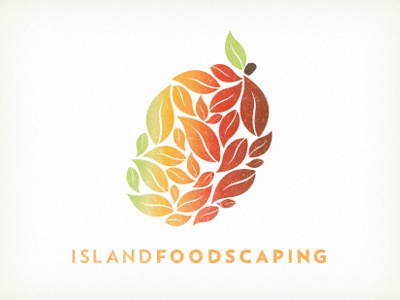 Island Foodscaping landscaping permaculture logo branding fruit hawaii mango