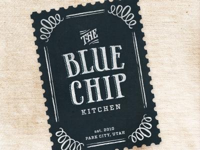 Blue Chip Kitchen bakery gluten-free branding logo texture western vintage phaeton vitesse ornament retro