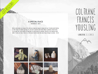 Coltrane baby blog website updates mountains illustration bw