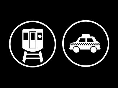 Transit, Transit icon cmj transit taxi train badge
