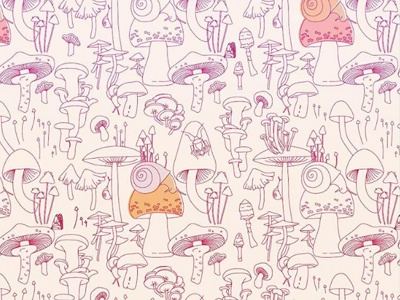 New pattern Mushrooms forest critters forest mushroom surface pattern design surface design pattern