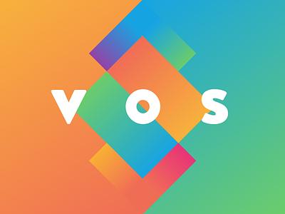 V O S orange green square colorful gradients