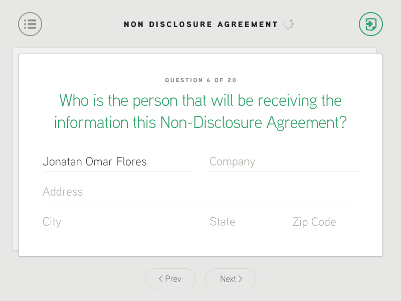 Forms App form survey steps questions next export