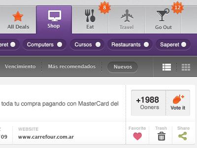 Oony orange violet ui menu icon purple