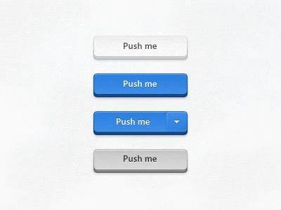 Buttons blue button form