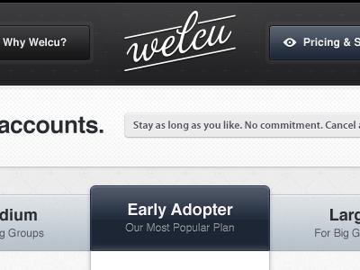 Pricing Welcu: UPDATE b blue menu icon pricing grey black