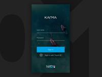 Daily UI - GoPro Karma drone mobile login
