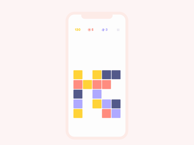 Blox: a block matching game simple mobile match game puzzle minimalist game ui game