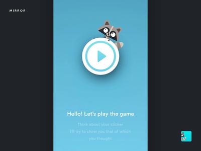 Find your Sticker – Mirror Emoji Keyboard cartoon app stickers keyboard emoji mirror design ios ui