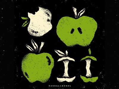07. Apple 🍏 - Moral Laurel's Inktober apple illustration apples apple prompt list halloween spooky digital illustration ipadprocreate ipadpro inktober inktober 2020 moral laurel inktober