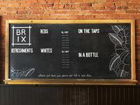 Brix drinks menu