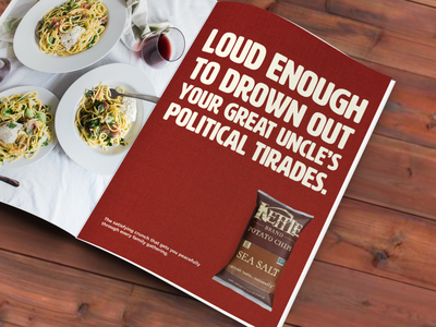 Kettle Chips Ad Concept adobe photoshop adobe indesign copywriting art direction magazine ad advertising