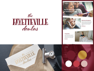 The Fayetteville Doulas adobe illustrator adobe xd adobe photoshop branding web design graphic design logo design logo