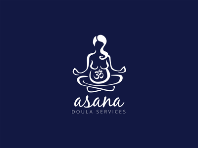 Asana Doula Services adobe illustrator graphic design illustration logo design logo
