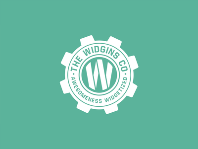 The Widgins Co adobe illustrator wordpress graphic design logo design logo