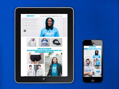 Esadeshop e-commerce website design aplication smartphone merchandise school store store