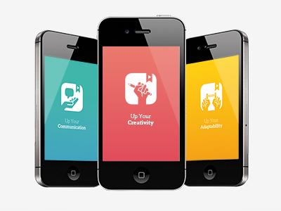 Learning Pills application mobile smartphone ux design ui design uxui design ios