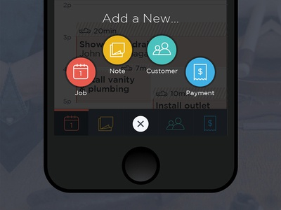 Breezeworks Plus Button tabbar ios mobile design interface animation iphone app breezeworks icons add button