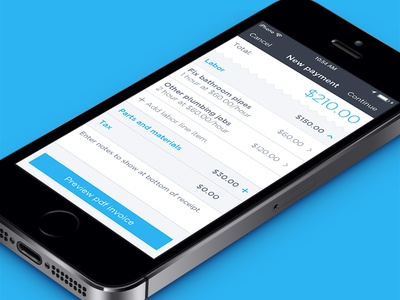 Breezeworks payments ios design payments app ux invoice mobile list visual ui price interface