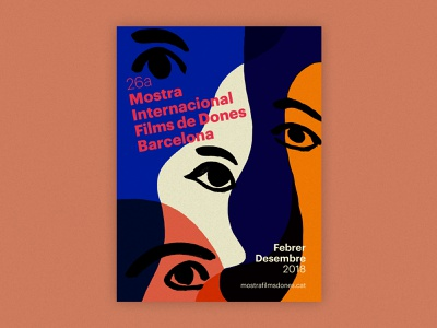 Mostra Internacional de Dones de Barcelona design poster art print barcelona eyes film festival movie film woman illustration poster