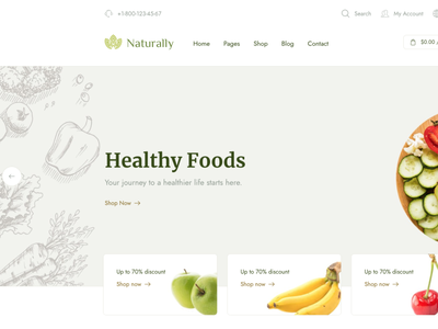 Naturally - Organic Food & Shop WooCommerce Theme envato ninetheme woocommerce shop recipes organic food organic farm shop organic natural products natural health food farming e-commerce dairy farm agriculture