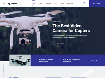 Quadron | Multipurpose Drone WordPress Theme woocommerce wedding videography videographer video production quadcopter photography media drone photography drone aerial photography