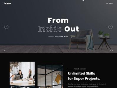 Wavo - Creative Portfolio & Agency WordPress Theme one page minimal multipurpose creative business responsive landing page agency modern clean