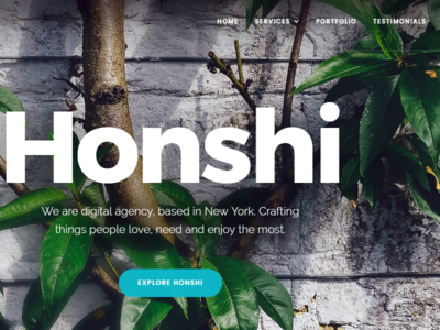 Honshi - Creative Multi Purpose WordPress Theme visual composer responsive portfolio parallax one page multi purpose modern creative corporate business bootstrap agency