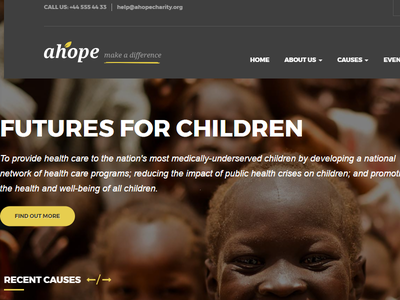 Ahope - A Best WordPress Theme for Non-Profit Organizations visual composer responsive paypal organization nonprofit fundraising fund foundation donation church charity bootstrap