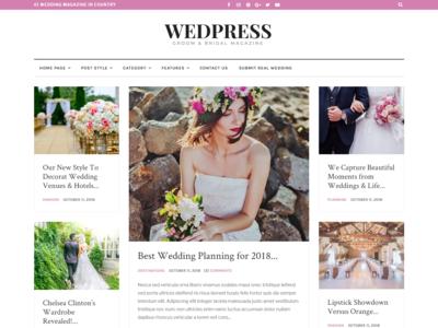 WedPress - Responsive WordPress Wedding Magazine Theme wedding theme wedding responsive one page modern marriage love groom gallery elegant couple clean ceremony bride blog