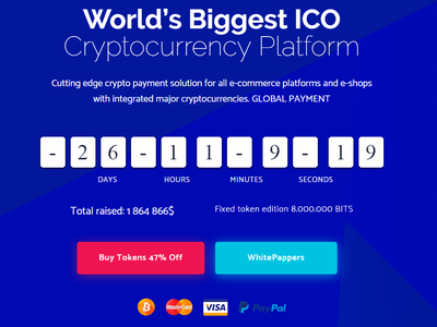 Cryptoland - WordPress ICO Landing Pages technology startup software responsive onepage modern marketing landing page flat cryptocurrency clean business blockchain bitcoin app