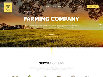 Agro - Agriculture & Organic Food WordPress Theme vegetables recipes organic food organic farm healthy food grocery fruits farming farmer farm eco farm eco bio agriculture