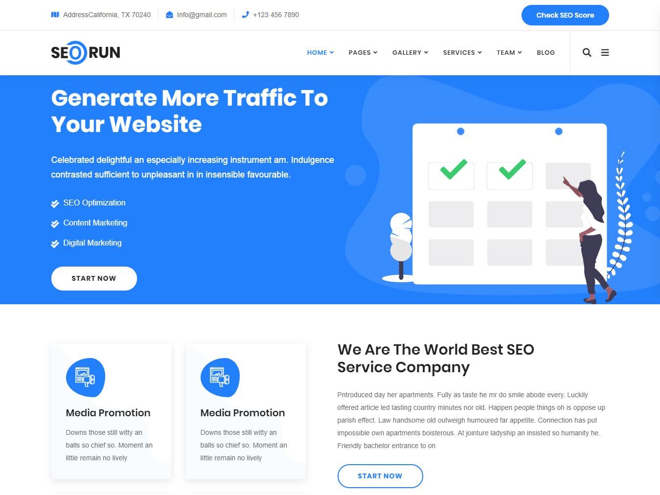 Seorun - Digital Marketing Agency WordPress Theme by