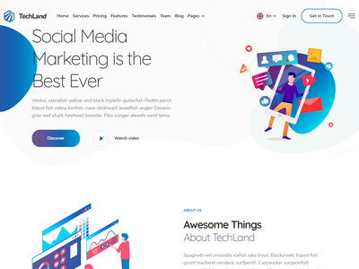 Techland - WordPress Saas Startup Theme vpn technology startup software saas responsive one page marketing landing page hosting clean business app landing page app agency
