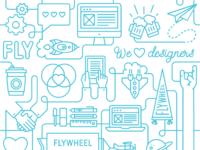 Flywheel pattern tilable 50c6db