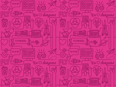 Flywheel Icon Pattern