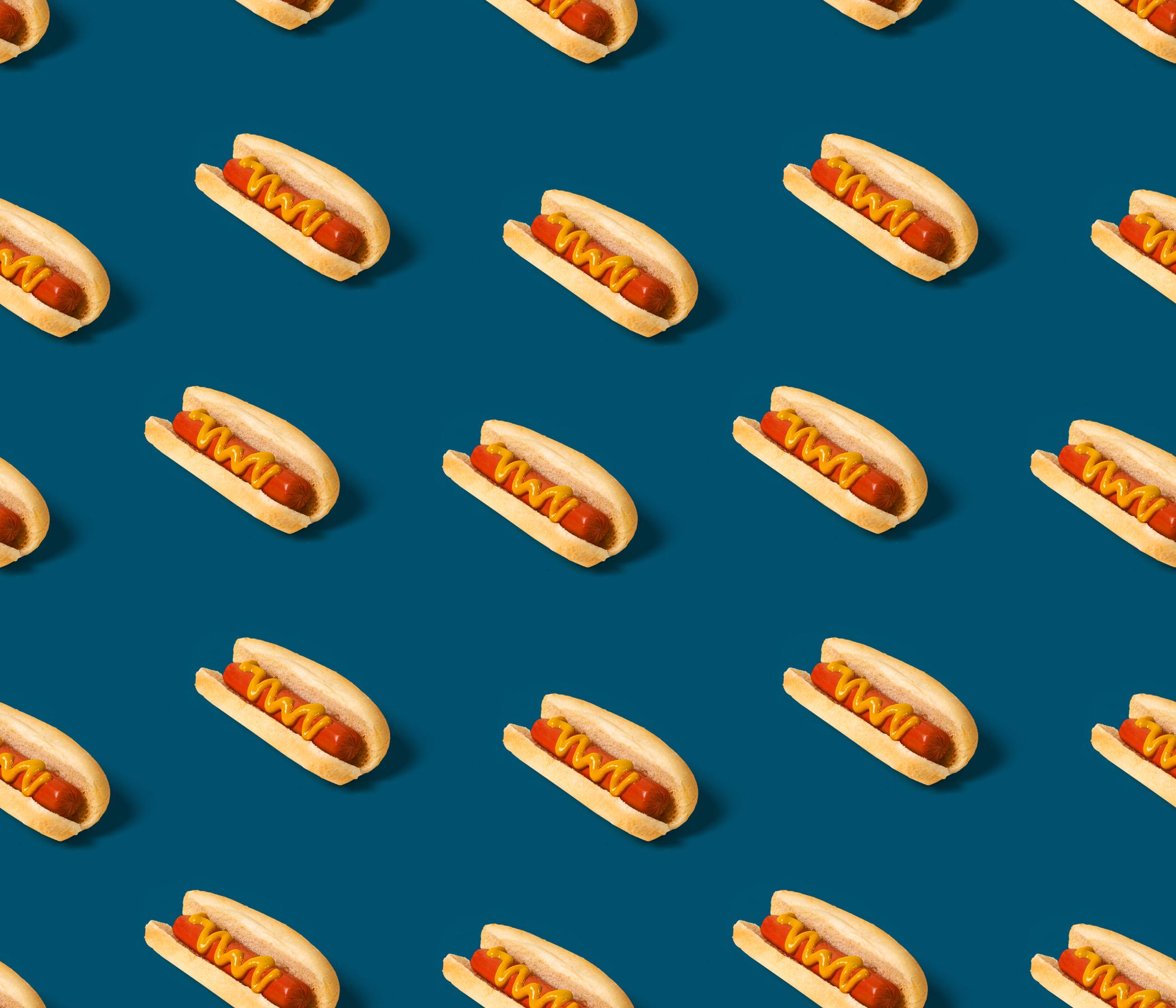 Hotdog blue tileable