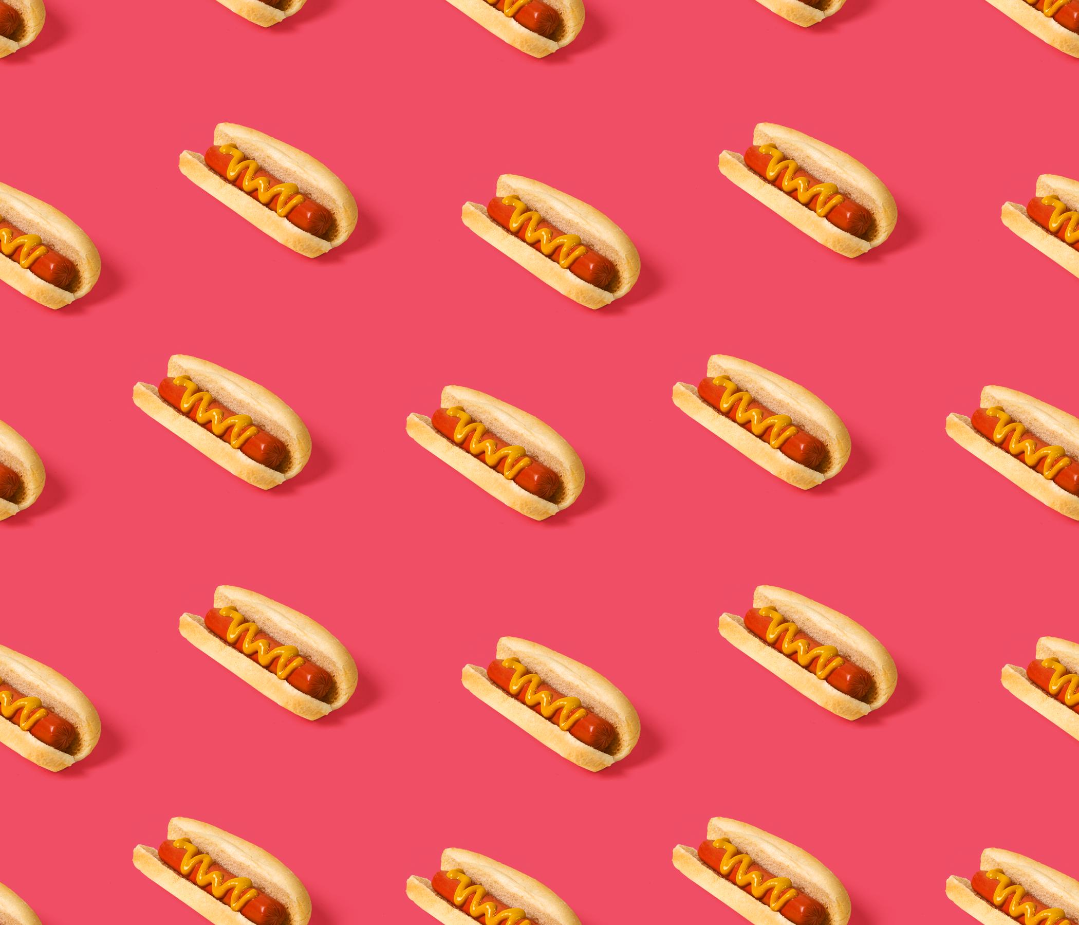 Hotdog red tileable