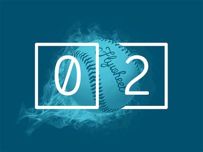 2017 Design Trends - Elegant Script Fonts script type treatment type numbers minimal baseball 2 color duotone