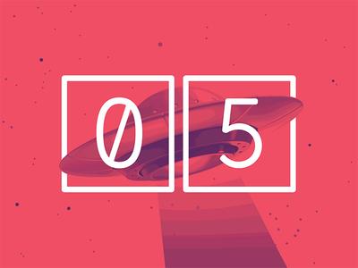 2017 Design Trends - Photorealistic Flat Design surreal alien ufo type treatment type numbers minimal 2 color duotone
