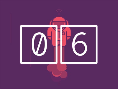 2017 Design Trends - CSS and SVG Animations animation css svg type treatment type numbers minimal 2 color duotone