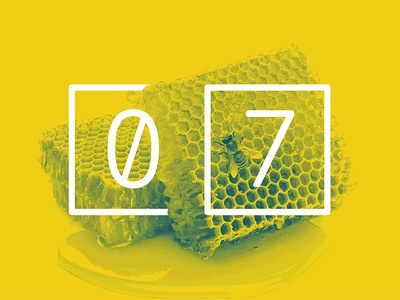 2017 Design Trends - Geometric Patterns geometric pattern honeycomb bee type treatment type numbers minimal 2 color duotone